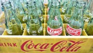 coke bottles crate (calories concept)