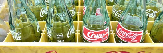 coke bottles crate (calories concept)