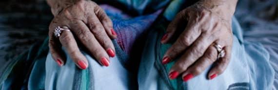 hands of elderly woman - sundowning