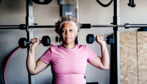 woman uses home gym - heart failure