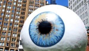 giant eyeball in the city
