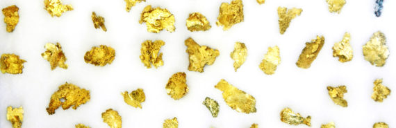 gold flakes on white - nanoporous gold