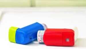 two inhalers on white - dupilumab studies
