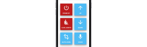 Mobile Maestro app on phone - muscular dystrophy