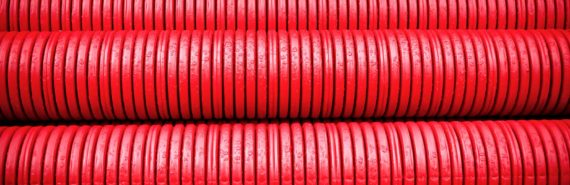 red tubes stacked (nanotubes concept)