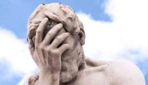 statue near louvre (regret concept)