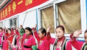 children at rural Sichuan school - Taenia solium