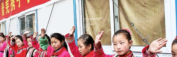 children at rural Sichuan school - Taenia solium