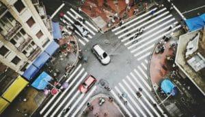 intersection in Sao Paulo, Brazil