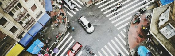 intersection in Sao Paulo, Brazil