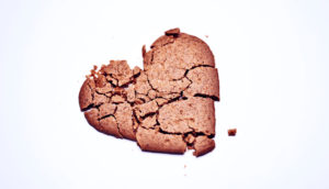 smashed heart cookie