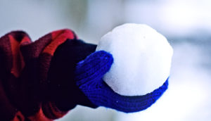 snowball in hand (exoplanets concept)