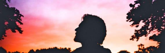 spiritual silhouette (spiritual experiences concept)
