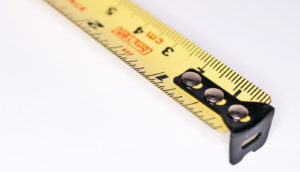 tape measure (postmenopausal women and height loss concept)