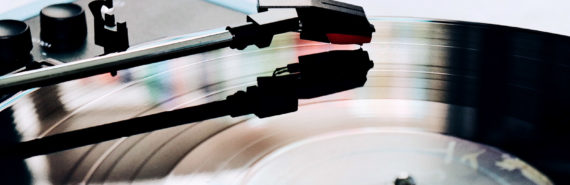 vinyl playing