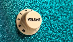 volume knob on guitar (music concept)