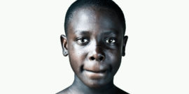 portrait of young woman in orphanage in Kenya