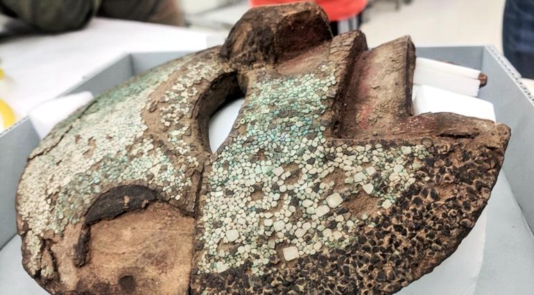 Mixteca style turquoise mask