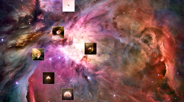 Orion nebula planet-forming map