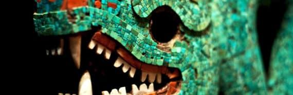 aztec turquoise serpent