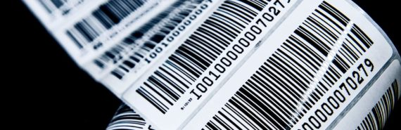 barcodes on a strip (DNA concept)