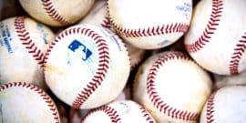 baseballs in a pile (baseball home runs concept)