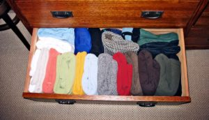 clothes in a drawer (misfolded proteins concept)