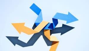 construction paper arrows (randomness concept)