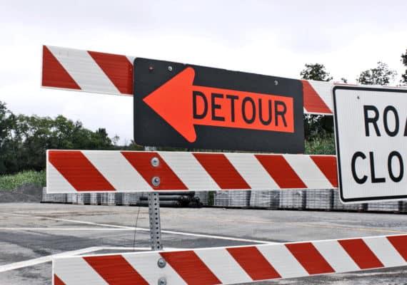 detour sign (goals concept)