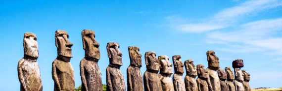 Easter Island statues (climate change concept)