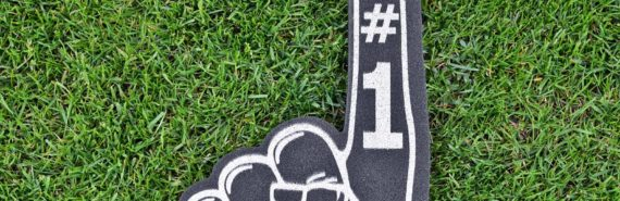foam finger on grass (current-insulating molecule concept)