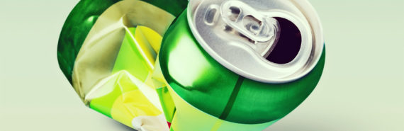 green crushed can - BPA