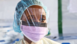 health worker in Liberia (ebola concept)
