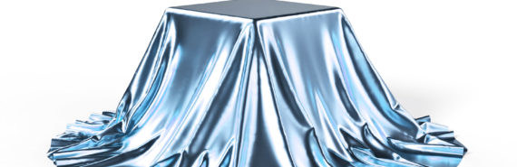 box under shiny blue cloth - hidden state of matter