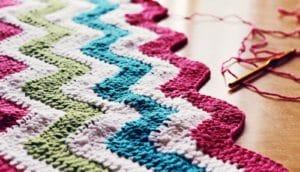 knit blanket ripples (memories concept)