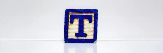 letter t block (fetal t cells concept)