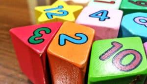number blocks on desk