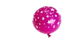 pink star balloon (globular clusters concept)
