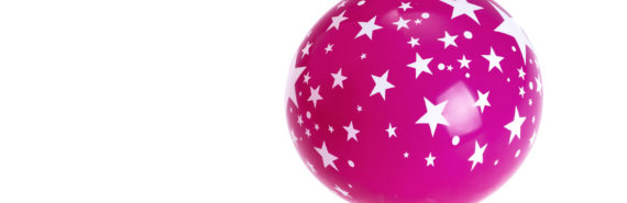 pink star balloon (globular clusters concept)