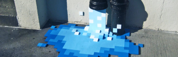 pixelated water pipe