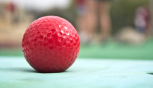 red golf ball (methane on Mars)