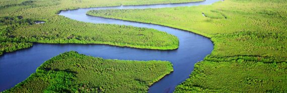 river aerial shot