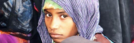 young teen in yemen (malnutrition concept)
