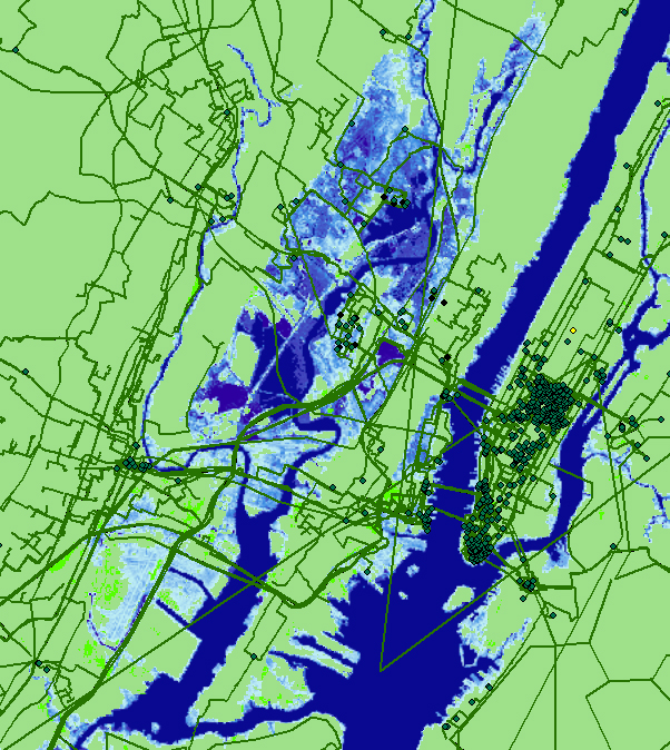 seawater map for NYC