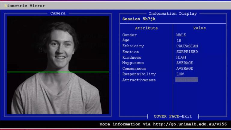 biometric mirror screenshot