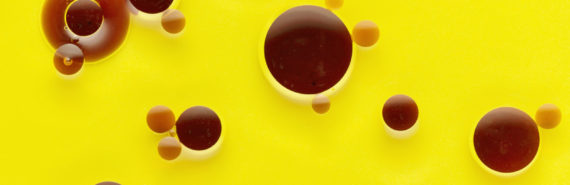 brown fat - brown oil droplets on yellow
