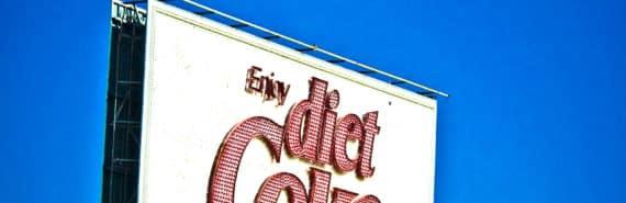 diet coke billboard (colon cancer concept)