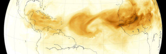 dust crosses from Sahara to Gulf of Mexico