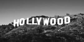 grayscale hollywood sign (Hollywood blacklist concept)