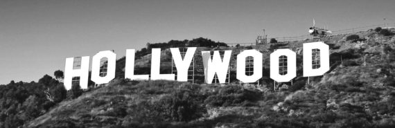 grayscale hollywood sign (Hollywood blacklist concept)